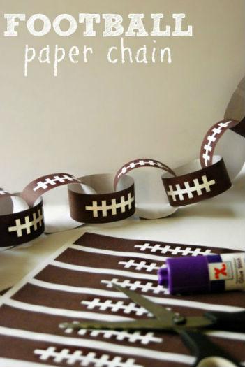 football_paper_chain