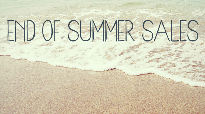 End of Summer Sales Roundup
