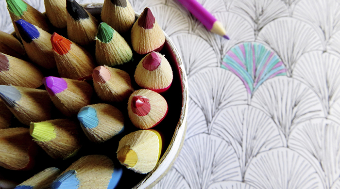 Coloring Pencils and Book