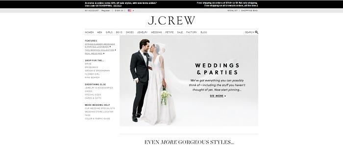 jcrew.com homepage