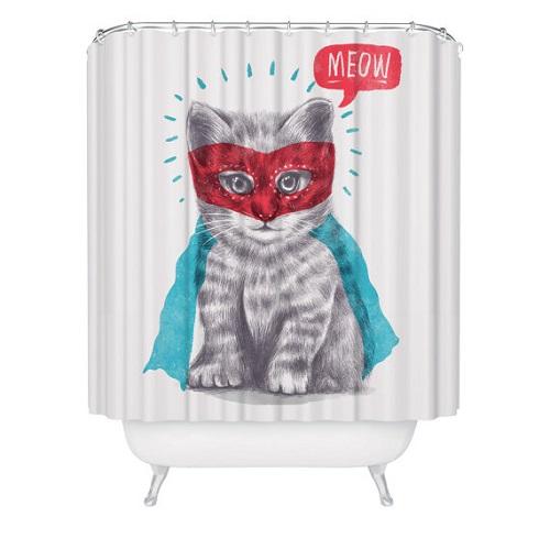 Super Kitty Shower Curtain