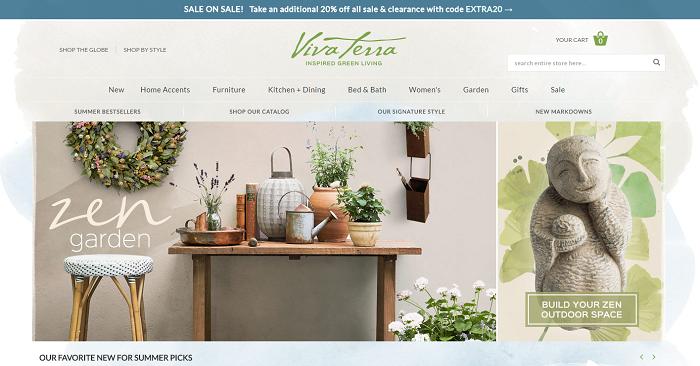 vivaterra.com homepage