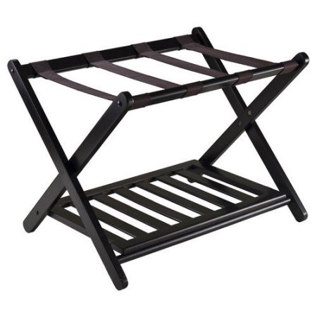 Brown luggage rack