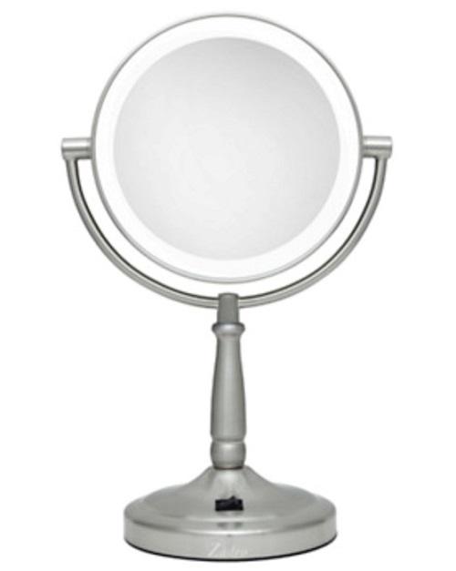 Round vanity makeup mirror