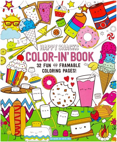 Happy Snacks Spiral Perforated Coloring Book