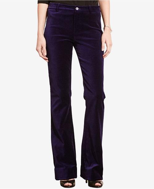 Lauren Ralph Lauren Flared Velvet Pants