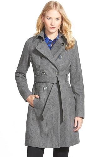 gray womens trench coat
