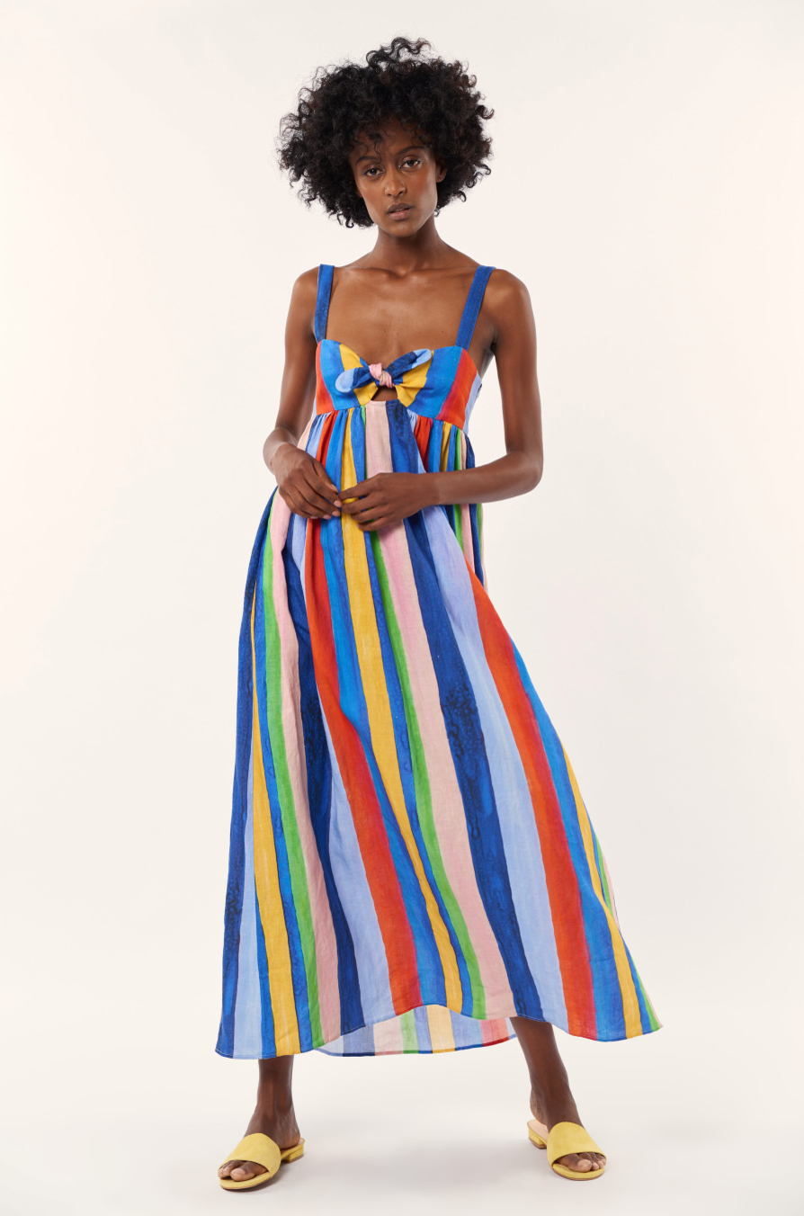 Striped Mara Hoffman Maxi Dress