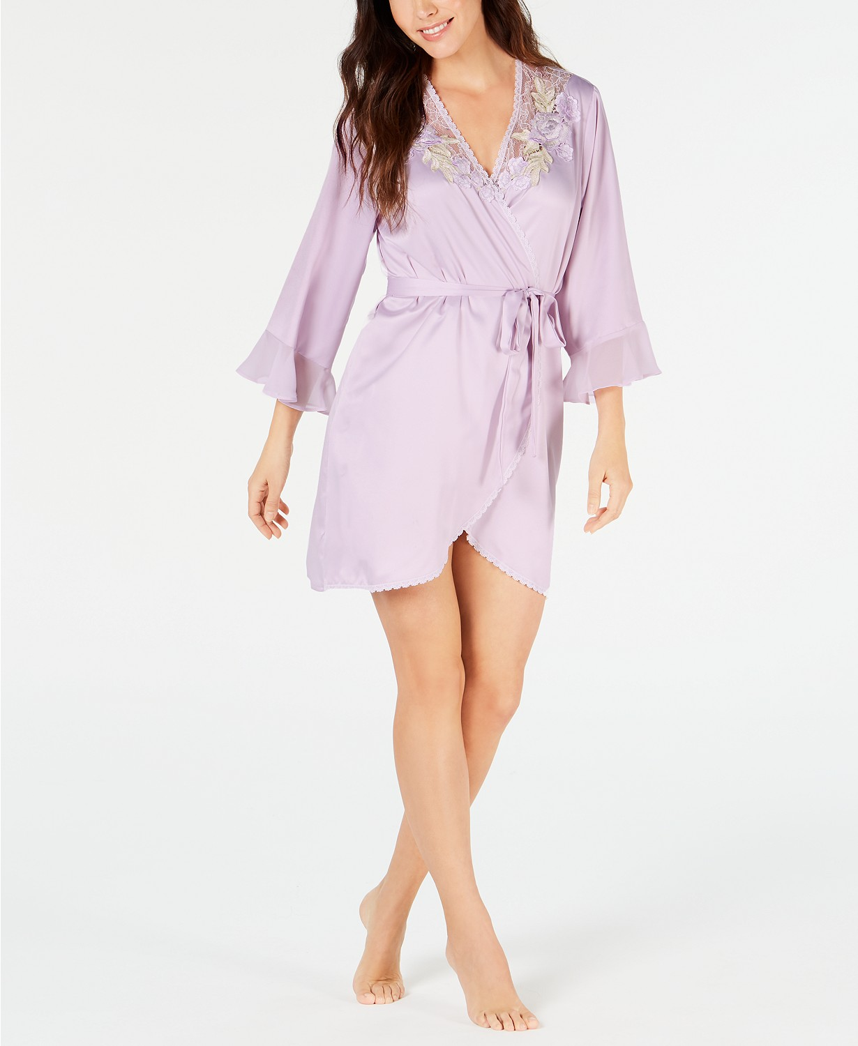 Linea Donatella Short Satin Robe